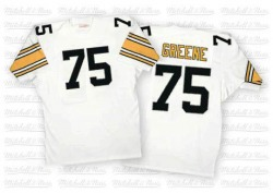 Mitchell and Ness Joe Greene Pittsburgh Steelers Authentic White Mitchell And Ness Throwback Jersey - Men's