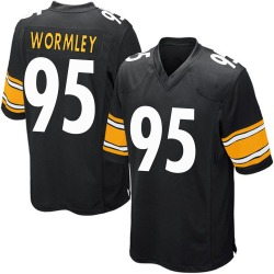 Nike Chris Wormley Pittsburgh Steelers Game Black Team Color Jersey - Youth