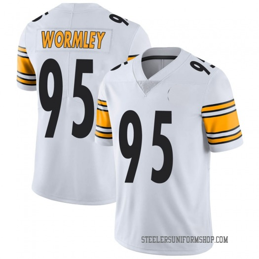 Nike Chris Wormley Pittsburgh Steelers Limited White Vapor Untouchable Jersey - Youth