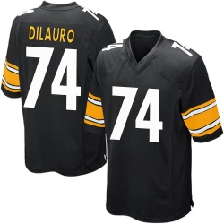 Nike Christian DiLauro Pittsburgh Steelers Game Black Team Color Jersey - Youth