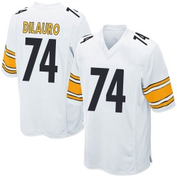 Nike Christian DiLauro Pittsburgh Steelers Game White Jersey - Youth
