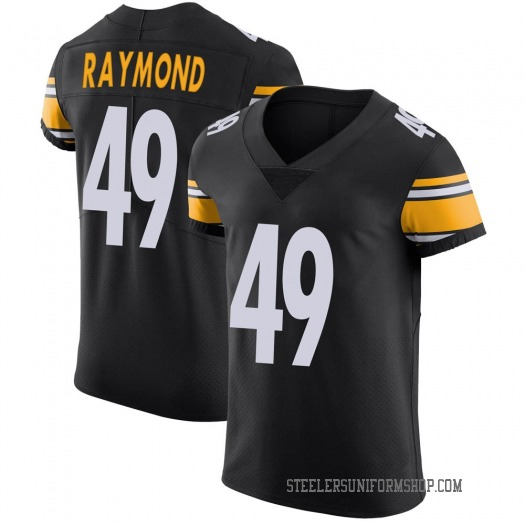 Nike Dax Raymond Pittsburgh Steelers Elite Black Team Color Vapor Untouchable Jersey - Men's