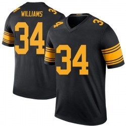 Nike DeAngelo Williams Pittsburgh Steelers Legend Black Color Rush Jersey - Men's