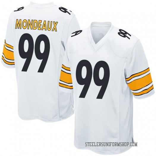 Nike Henry Mondeaux Pittsburgh Steelers Game White Jersey - Men's