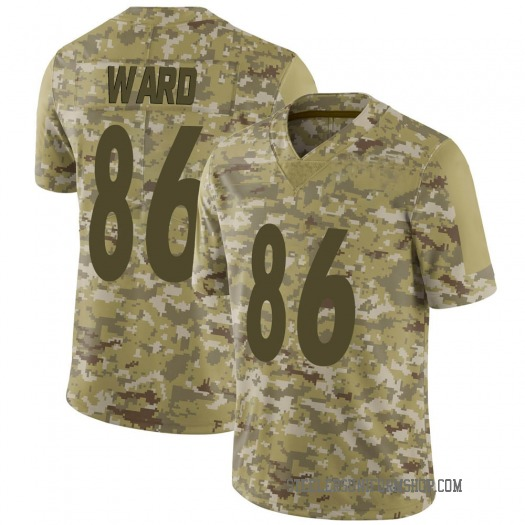 Nike Hines Ward Pittsburgh Steelers Limited Camo 2018 Salute to Service Jersey - Men's