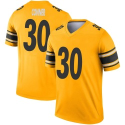 Nike James Conner Pittsburgh Steelers Legend Gold Inverted Jersey - Men's