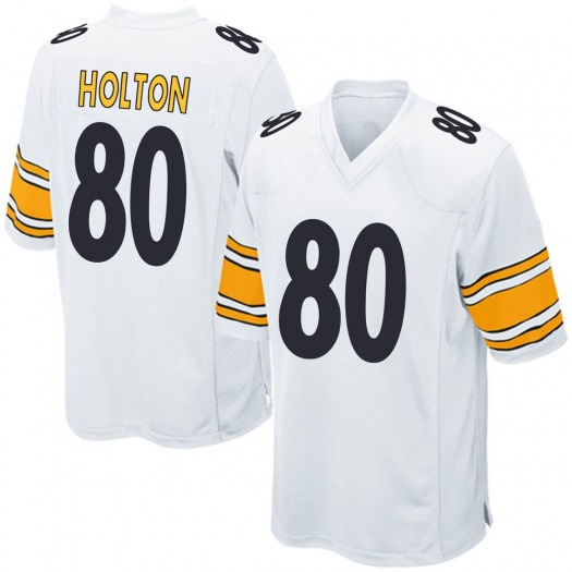 Nike Johnny Holton Pittsburgh Steelers Game White Jersey - Men's