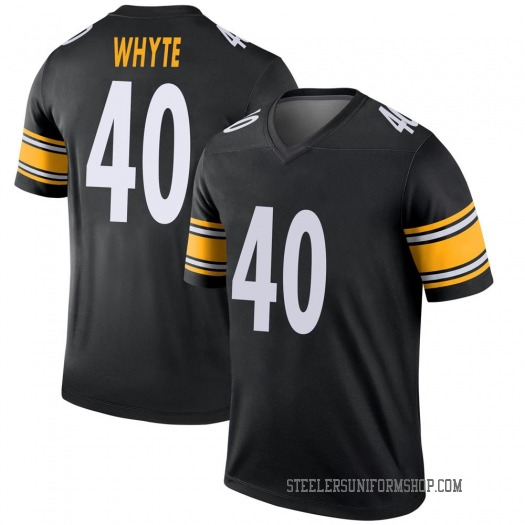 Nike Kerrith Whyte Jr. Pittsburgh Steelers Legend Black Jersey - Youth