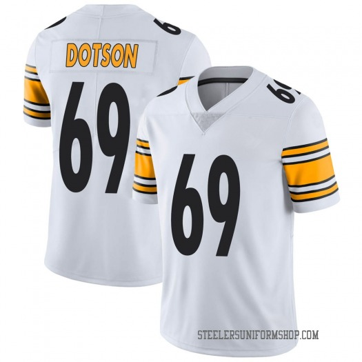 Nike Kevin Dotson Pittsburgh Steelers Limited White Vapor Untouchable Jersey - Men's