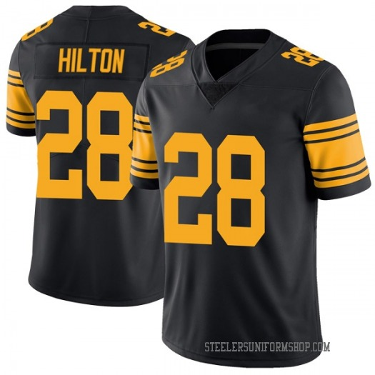 Nike Mike Hilton Pittsburgh Steelers Limited Black Color Rush Jersey - Youth