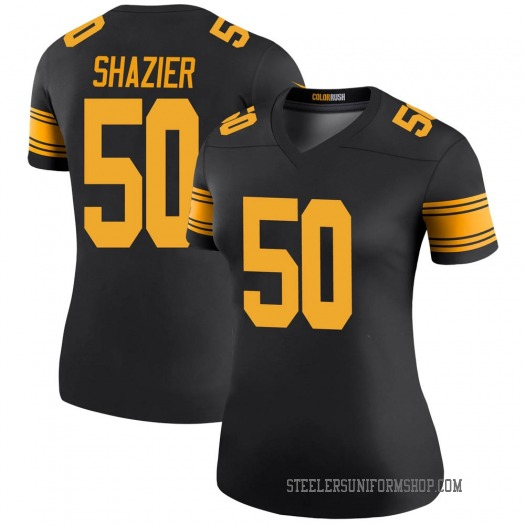 Nike Ryan Shazier Pittsburgh Steelers Legend Black Color Rush Jersey - Women's