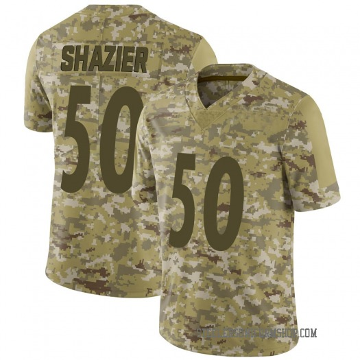 Nike Ryan Shazier Pittsburgh Steelers Limited Camo 2018 Salute to Service Jersey - Men's