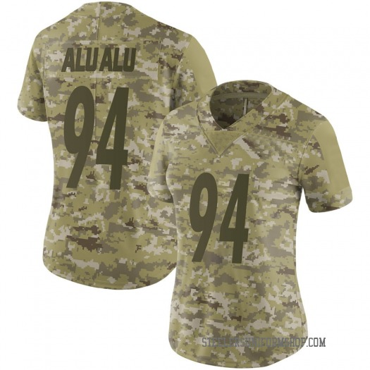 Nike Tyson Alualu Pittsburgh Steelers Limited Camo 2018 Salute to Service Jersey - Women's