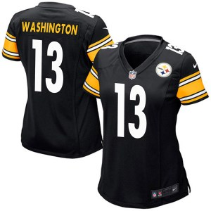 Nike James Washington Pittsburgh Steelers Game Black Team Color Jersey - Women's