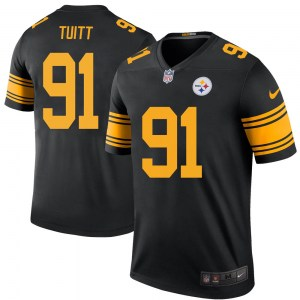 Nike Stephon Tuitt Pittsburgh Steelers Legend Black Color Rush Jersey - Youth