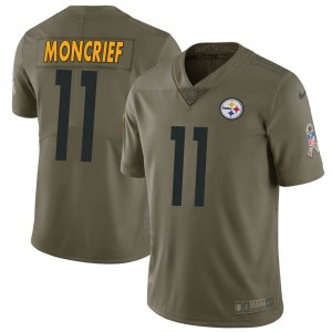 Nike Donte Moncrief Pittsburgh Steelers Limited Green 2017 Salute to Service Jersey - Youth