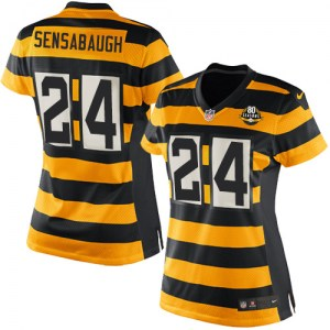 Nike Coty Sensabaugh Pittsburgh Steelers Game Yellow/Black Alternate 80TH Anniversary Throwback Jersey - Women's