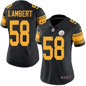 Nike Jack Lambert Pittsburgh Steelers Limited Black Color Rush Jersey - Women's