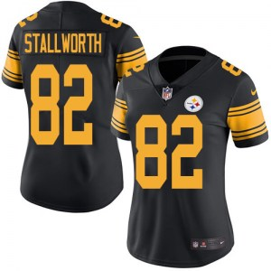 Nike John Stallworth Pittsburgh Steelers Limited Black Color Rush Jersey - Women's