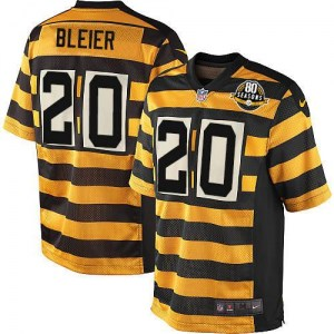 Nike Rocky Bleier Pittsburgh Steelers Limited Yellow/Black Alternate 80TH Anniversary Throwback Jersey - Men's