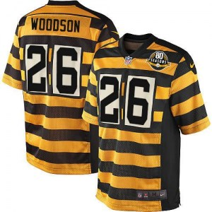 Nike Rod Woodson Pittsburgh Steelers Game Yellow/Black Alternate 80TH Anniversary Throwback Jersey - Men's