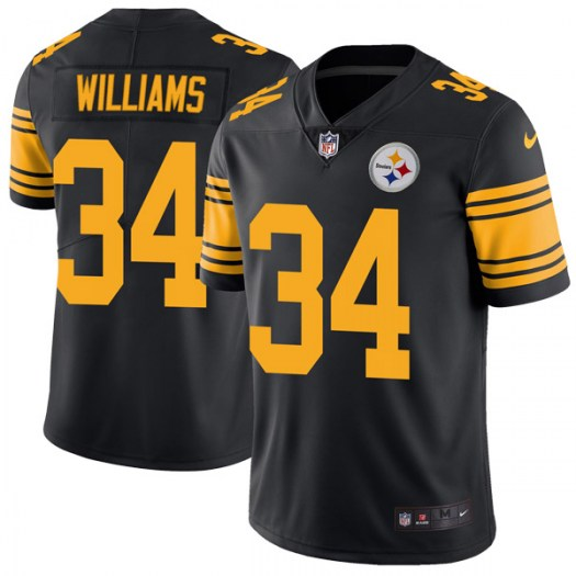 Nike DeAngelo Williams Pittsburgh Steelers Limited Black Color Rush Jersey - Men's
