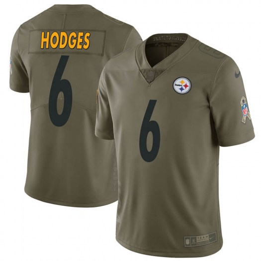 Nike Devlin Hodges Pittsburgh Steelers Limited Green 2017 Salute to Service Jersey - Men's