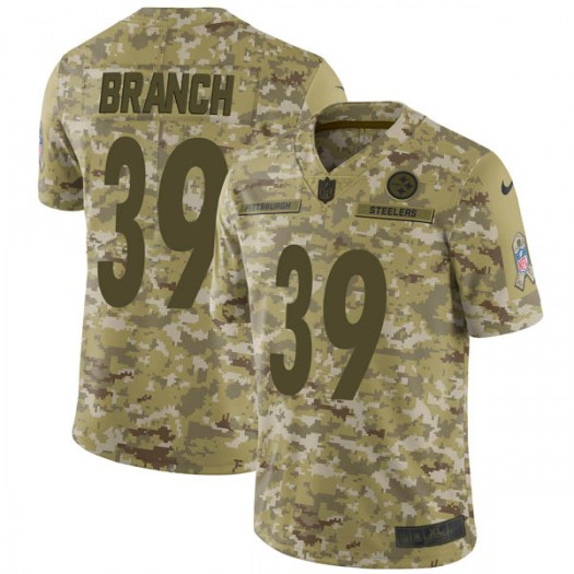 Nike Marcelis Branch Pittsburgh Steelers Limited Camo 2018 Salute to Service Jersey - Men's