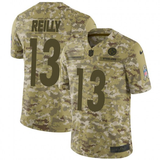 Nike Brandon Reilly Pittsburgh Steelers Limited Camo 2018 Salute to Service Jersey - Men's