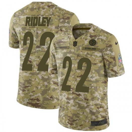 Nike Stevan Ridley Pittsburgh Steelers Limited Camo 2018 Salute to Service Jersey - Men's