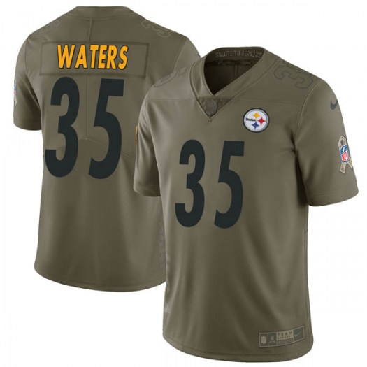 Nike Herb Waters Pittsburgh Steelers Limited Green 2017 Salute to Service Jersey - Youth