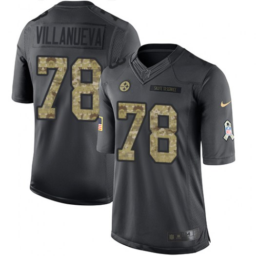 Nike Alejandro Villanueva Pittsburgh Steelers Limited Black 2016 Salute to Service Jersey - Youth