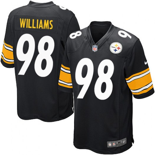 Nike Vince Williams Pittsburgh Steelers Game Black Team Color Jersey - Men's