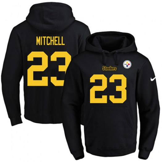 Nike Pittsburgh Steelers Gold Mike Mitchell Black( No.) Name & Number Pullover Hoodie - Men's